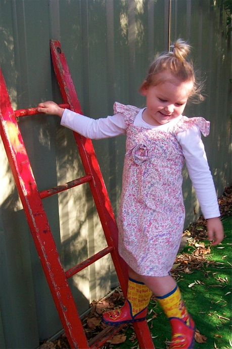 Dress with styling by 3 year old.