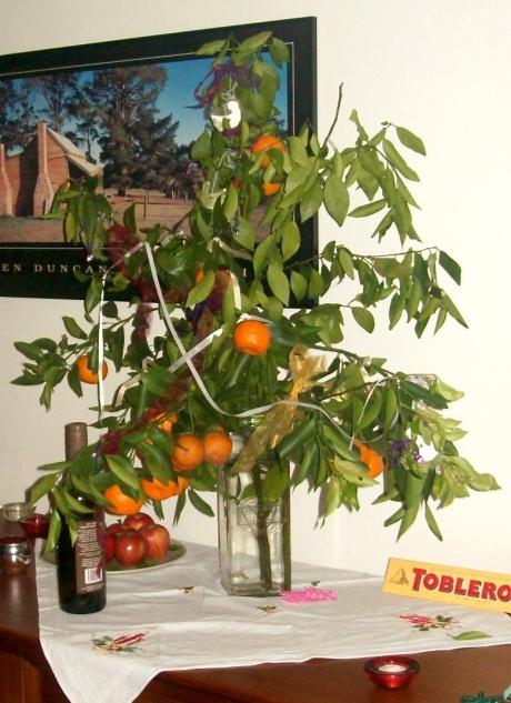 The mandarine Christmas tree