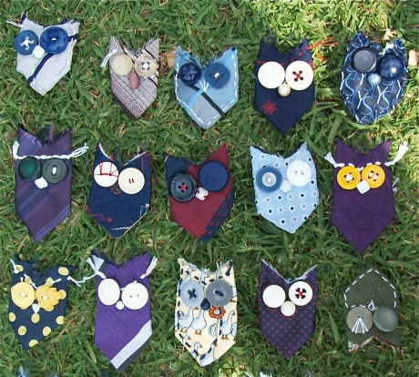 A sample of owls. Most have made their way to good homes, but I have more.... they just aren't photograghed because my big girls own the cameras and they are away on holidays until tomorrow.