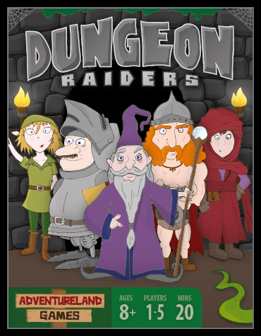 Dungeon Raiders Card Game Cover.