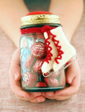 Hand Held Ice Skating Date In A Jar