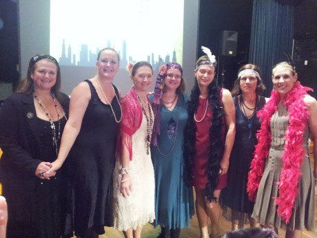 Some of the the book-club girls and some ring-in's at the school fundraiser.