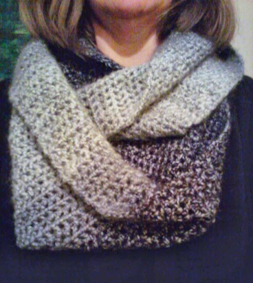 My new crocheted infinity scarf.