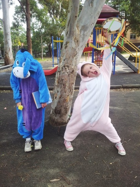 Onsies as costumes.