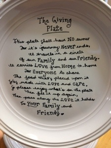 """The Giving Plate"" by Adventures of an Orthodox  Mom. Image from there. ."