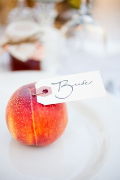Fruity Place markers. Image from Style Me Pretty.