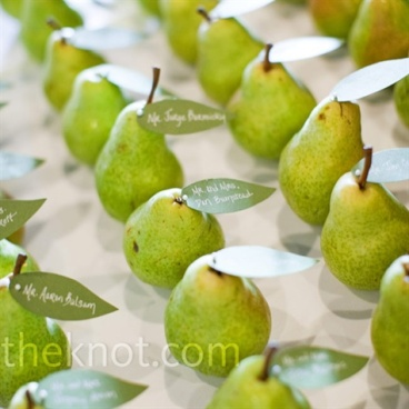 Or if you prefer pears..... This idea and image from The Knot.