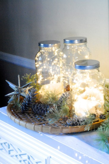 Fairy Lights in jars. Image from Making Lemonade.